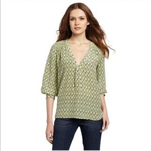 Joie Silk Foral Green Blouse